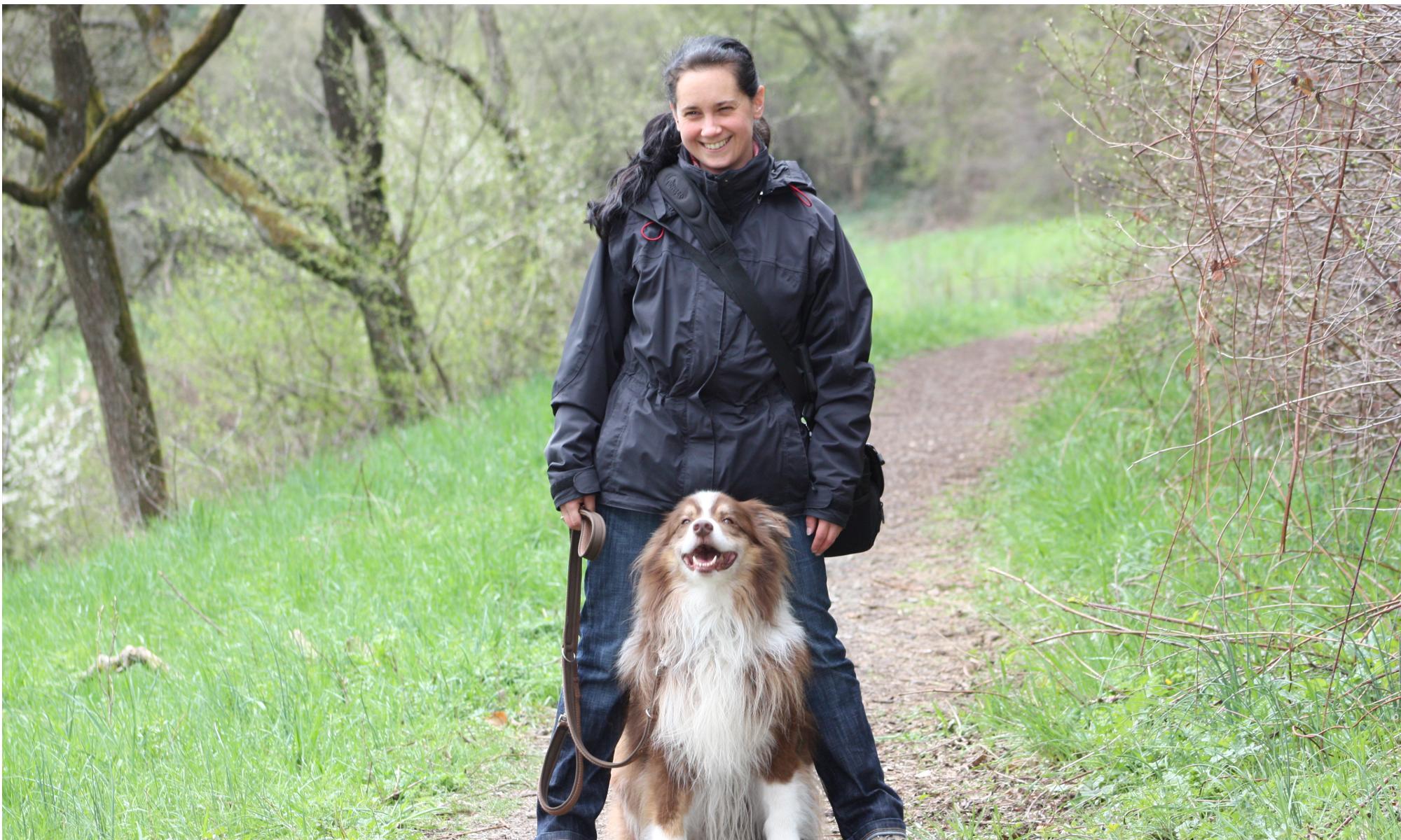 Hundetrainerin Kerstin Beck mit Deejay